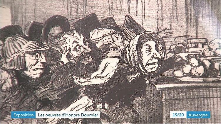 L'une des caricatures d'Honoré Daumier exposée à Volvic (France 3 Rhône-Alpes)