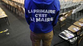 Face à six autres candidats à droite, le député de l'Eure tente de se démarquer (CHARLY TRIBALLEAU / AFP)