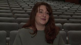 Juliette Moraine,jeune femme originaire de l'Yonne,participe à la sélection du représentant de la France pour l'Eurovision. (CAPTURE D'ÉCRAN FRANCE 3)
