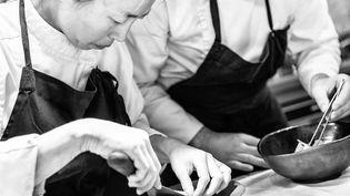 Fumiko et Anthony Maubert, pour une cuiisine à quatre main à Blois au restaurant Assa. (ASSA)