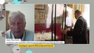 Jean-PaulStahl, professeur de maladies infectieuses et tropicales au CHU de Grenoble, était l'invité de franceinfo canal 27, le 18 juin 2021.  (FRANCEINFO)