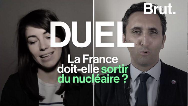 Plus de 70 % de l'électricité française est produite par le nucléaire mais ce système fait débat. Alix Mazounie, membre de Greenpeace, et Julien Aubert, député LR, ont confronté leurs points de vue à ce sujet. (BRUT)