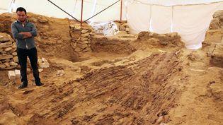 Un bateau funèbre de 4.500 ans  (Stringer/Ministre des Antiquités Egyptiennes/AFP)