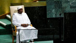 Le président gambien, Adama Barrow, à l'ONU le 25 septembre 2018. Certains l'accusent de visées dictatoriales.... (REUTERS - EDUARDO MUNOZ / X01440)