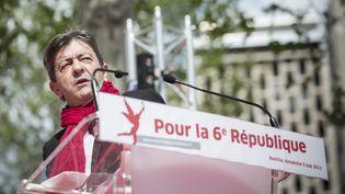 Jean-Luc Mélenchon, ici en mai 2013 lors d'une marche contre l'austérité et pour une 6e République, un an après l'élection de François Hollande. (MAXPPP)