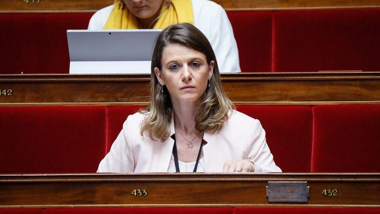 Laurianne Rossi à l'Assemblée nationale, le 25 juillet 2017 (THOMAS PADILLA / MAXPPP)