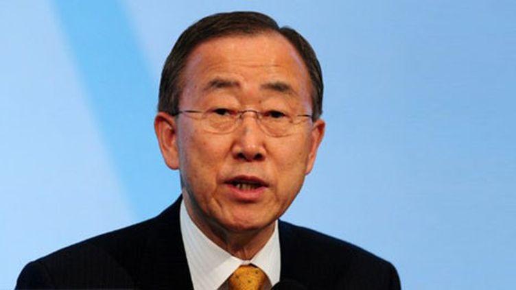Ban Ki-moon, secrétaire général des Nations unies, le 9 mai 2011 (AFP/Mustapha Ozer)