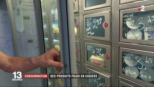 Consommation : des produits frais en casiers