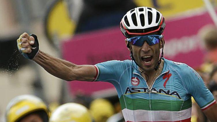 La joie de Vincenzo Nibali (Astana)