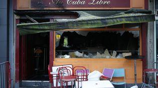 Un incendie s'était déclaré au sous-sol du Cuba Libre à Rouen dans la nuit du 5 au 6 août 2016, faisant 14 morts. (MATTHIEU ALEXANDRE / AFP)
