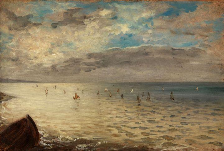"""Eugène Delacroix, """"La Mer vue des hauteurs de Dieppe"""", vers 1852,Musée du Louvre  (RMN-Grand Palais (musée du Louvre) / Philippe Fuzeau)"""