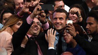 Emmanuel Macron, le 18 octobre 2016 à Montpellier (Hérault). (PASCAL GUYOT / AFP)