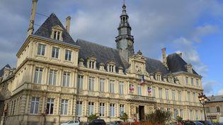 La mairie de Reims (Marne) où doivent se marierKarine et Thomas, le 17 octobre 2015. (RIEGER BERTRAND / HEMIS.FR / AFP)