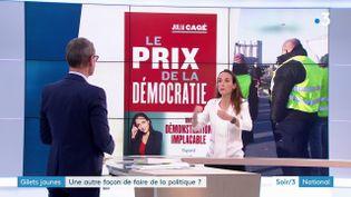 Julia Cagé et son livre (France 3)