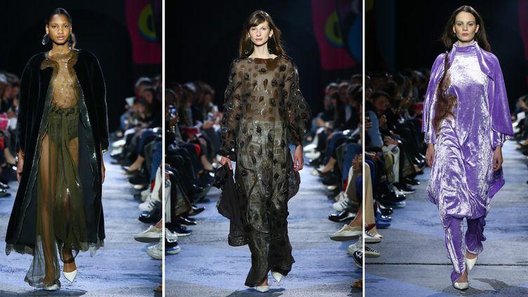 Quelques modèles de la collection de Vanessa Schindler, au Festival de mode de Hyères (30 avril 2017)  (CatwalkPictures)
