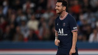 Lionel Messi lors du match de Ligue 1 face à Lyon le 19 septembre 2021. (JOSE BRETON / NURPHOTO)