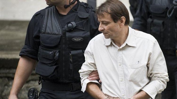 L'ex-militant d'extrême gauche italien Cesare Battisti à Rio de Janeiro le 10 décembre 2009 (AFP PHOTO ANTONIO SCORZA)