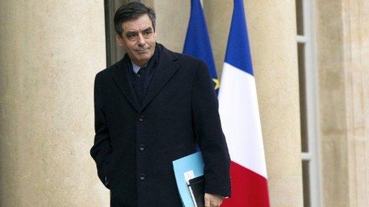 François Fillon arrive à l'Elysée, le 17 février 2012. (AFP - Lionel Bonaventure)