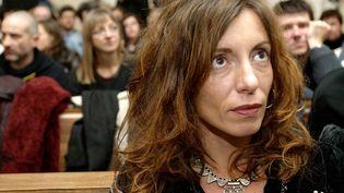 Krisztina Rady, au procès de Bertrand Cantat accusé du meurtre de Marie Trintignant, à Vilnius (Lituanie) le 18 mars 2004. (MINDAUGAS KULBIS / AP / SIPA)