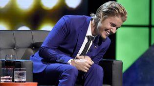 Justin Bieber sur le plateau de la chaîne américaine Comedy Central le 14 mars 2015  (Chris Pizzello/AP/SIPA)