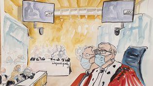 La cour d'assise spéciale de Paris, le 24 septembre 2020. (ELISABETH DE POURQUERY / FRANCEINFO)