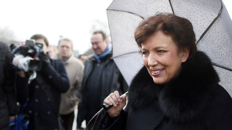 Roselyne Bachelot, le 27 janvier 2013, manifeste à Paris pour le mariage pour tous. (KENZO TRIBOUILLARD / AFP)