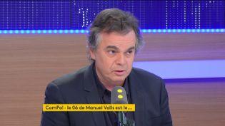 Alexandre Jardin, sur franceinfo, le 3 décembre 2016. (RADIO FRANCE / CAPTURE D'ÉCRAN)