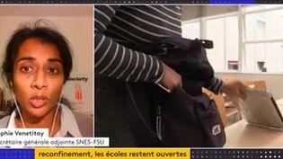 Sophie Vénétitay (Capture d'écran Franceinfo)