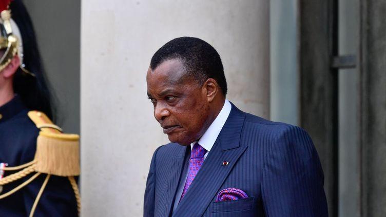 Le président congolais Denis Sassou Nguesso (mai 2018) (Julien Mattia)