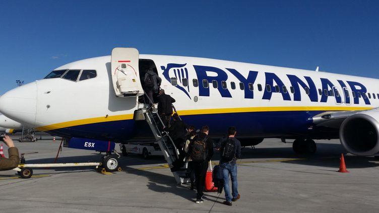 Un avion de ligne de la compagnie Ryanair. (NICOLAS BLANZAT / FRANCE-BLEU LIMOUSIN)