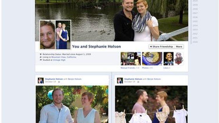 """Capture d'écran de la """"page couple"""" annoncée par le réseau social Facebook le 8 novembre 2012. (FACEBOOK)"""
