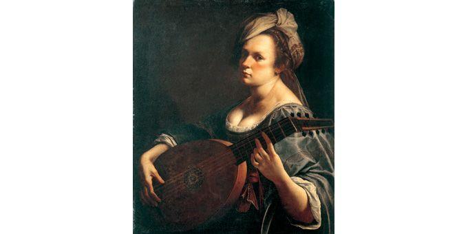 Artemisia Gentileschi, Autoportrait au luth, c.1615-1619  (Curtis Galleries, Minneapolis, Minnesota)