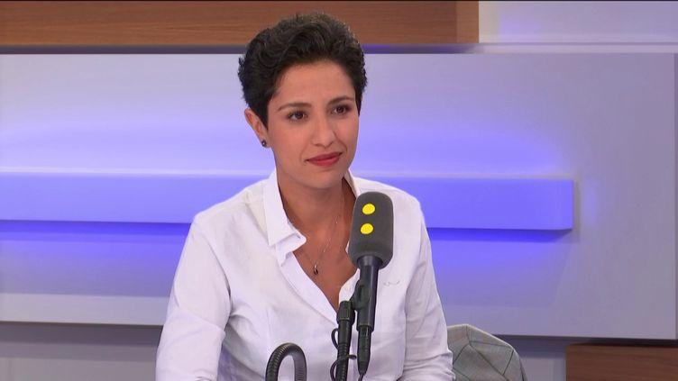 Sarah El Haïry, députée de Loire-Atlantique et porte-parole du MoDem, le 11 septembre 2019 sur franceinfo. (FRANCEINFO / RADIOFRANCE)