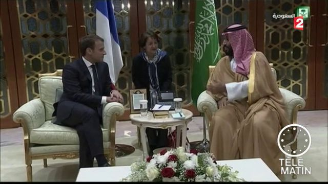Emmanuel Macron en visite à Riyad
