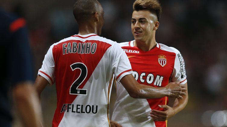 Fabinho et Stephan El Shaarawy (VALERY HACHE / AFP)