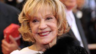 """La chanson """"Le Tourbillon de la vie"""" va devenir l'emblème de Jeanne Moreau. (ANNE-CHRISTINE POUJOULAT / AFP)"""