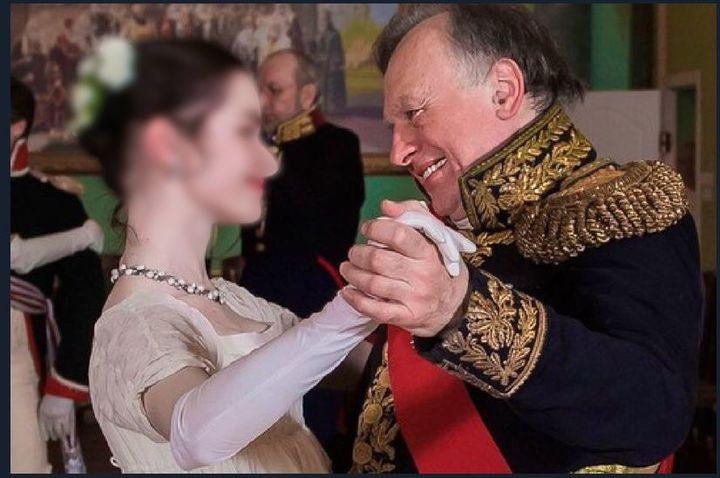 Anastassia Echtchenko et Oleg Sokolov lors d'une reconstitution historique. (/)