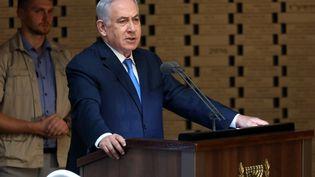 Le Premier ministre israélien, Benyamin Nétanyahou, à Jérusalem, le 10 octobre 2019. (GALI TIBBON / AFP)