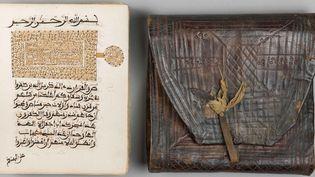 Coran à calligraphie fulani, Afrique de l'Ouest, début du XXe siècle, manuscrit et étui en cuir  (Vincennes, collection C. Hamès © Photo Cateloy – IMA)
