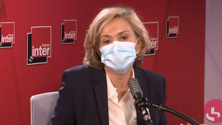 Valérie Pécresse, présidente de la région Île-de-France, sur France Inter lundi 7 décembre 2020. (FRANCEINTER / RADIOFRANCE)
