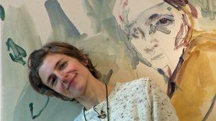 L'artiste Ann Loubert expose ses peintures et aquarelles à la galerie Chantal Bamberger de Strasbourg (France 3 Alsace)