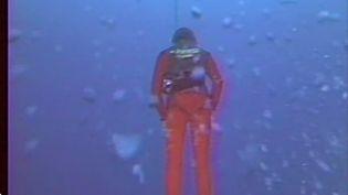 Le 23 novembre 1976, le Français Jacques Mayol franchissait les 100 m de profondeur en apnée. (CAPTURE ECRAN FRANCE 2)