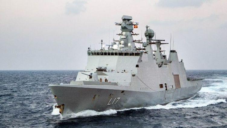 Le navire danois «Sbern Snare» en mer Mediterrannée, le 5 Janvier 2014. (LARS MAGNE HOVTUN / NORWEGIAN ARMED FORCES / AFP)