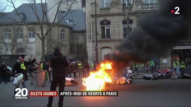 """""""Gilets jaunes"""" : l'Acte 8 donne lieu à de nouveaux heurts à Paris"""