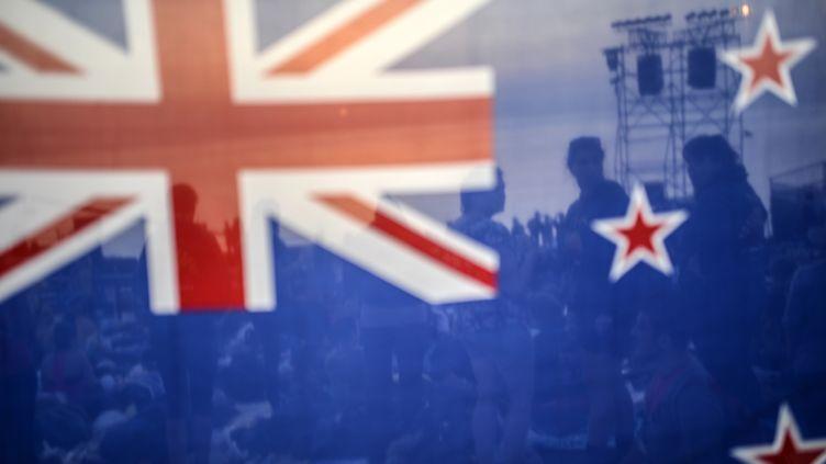 Le drapeau néo-zélandais, le 24 avril 2014 à Canakkale (Turquie). (BULENT KILIC / AFP)