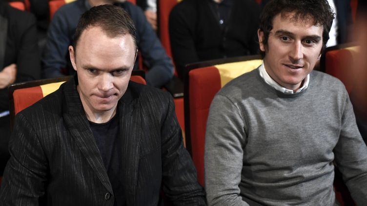 Chris Froome et Geraint Thomas (STEPHANE DE SAKUTIN / AFP)