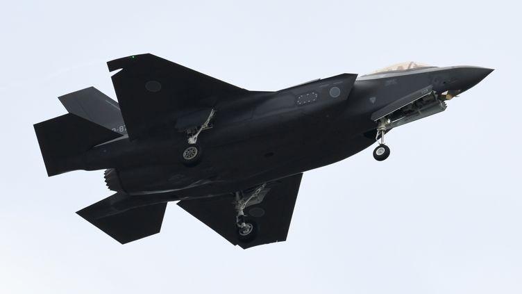 Un F-35 des forces d'autodéfense japonaises, le 14 octobre 2018 au-dessus d'Asaka (Japon). (KAZUHIRO NOGI / AFP)