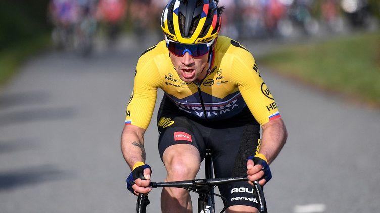 Primoz Roglic a remporté la 6e étape du Paris-Nice, vendredi 12 mars 2021. (ANNE-CHRISTINE POUJOULAT / AFP)