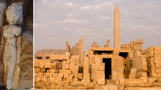 Une statue de la fille du pharaon Amenhotep III a été découverte en Egypte  (MICHEL GUNTHER / AFP)
