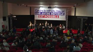 Une réunion entre les gauches se tenait mercredi 11 décembre à la Bourse du travail de Saint-Denis (Seine-Saint-Denis), à l'initiative du Parti communiste. (france 3)